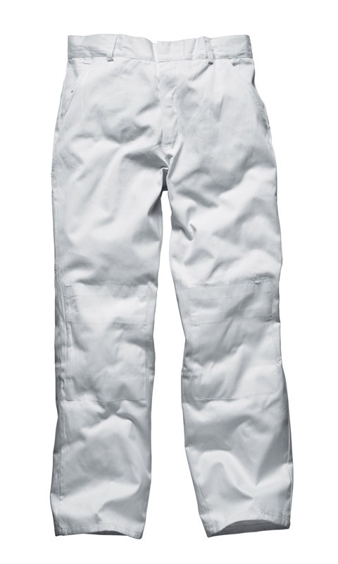 Dickies WD824 Painters Decorators Work Trousers White Brix Workwear